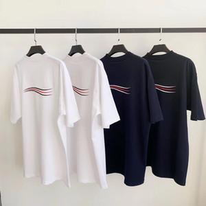 Beste Version Cola Welle T Brief Printing Short Sleeve Mode Aufmaß Baumwolle Bequeme Herren Damen Paar Designer-T-Shirt HFXHTX204