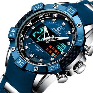 Readeel marca di lusso del quarzo del LED Digital Orologi da uomo Orologi Cronografo Uomo Sport Watch impermeabile da polso relogio Quartzo masculino