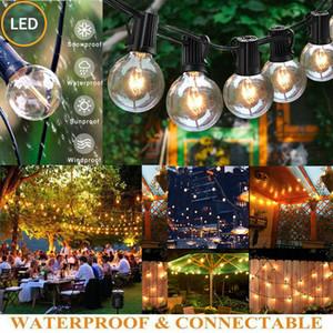 25 Stück LED im Freien wasserdichten Commercial Grade Globe Patio Pergola Deck Partei-Schnur-Licht-Glühen Party Supplies Startseite Dezember