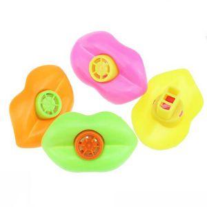 Carino plastica Lip Whistles Pinata Fillers Decorazione di compleanno per bambini Forniture per feste Giocattoli regalo giocattolo di festa di Natale