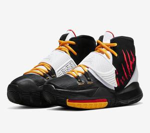 Bambini Kyries 6 Mamba Mentalità Bruce Lee Basket scarpe di vendita con la scatola libera il trasporto migliore Irvings 6 Black Alternate uomini donne scarpe US4-US12