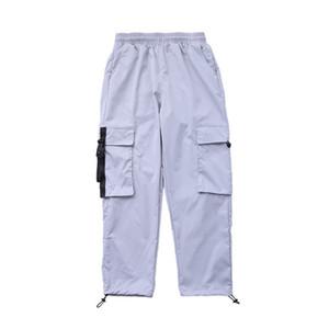 Streetwear Hip Попа Брюки Мужчины Большого Карманы голеностопного Quick Dry Брюки повседневные брюки Грузовой Спецодежда Гаремной Мужской мешковатого Pant