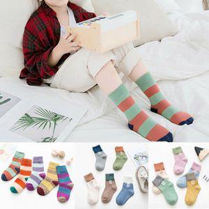 Emmababy Mode 5 paires Filles Garçons Chaussettes en coton Enfants Kid Sport Chaussettes Sweat-Absorbant