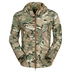 JODIMITTY New Spring Outdoor Veste homme Mode camouflage imprimé Pardessus Veste imperméable Casual coupe-vent à capuchon
