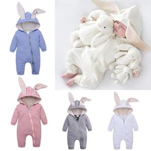 Newborn Baby Boy Rompers Vetements Pour Enfants Girls Kids Designer Clothe Girls boys Hooded Infant Cotton Jumpsuits Toddler Boutique BB057B