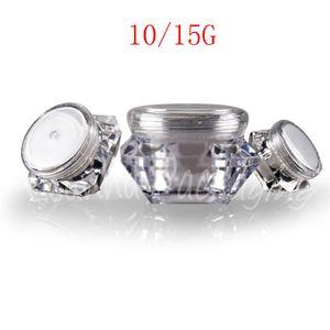 10G 15G ромб Пластиковые крем Jar, маска / Eye Пример Sub-розлив Пусто Cosmetic Контейнер (20 PC / Lot)