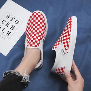 الربيع والصيف أحذية رجالية قماش النسخة الكورية من لون مطابقة دواسة واحد كسول مجلس المد عارضة تنفس