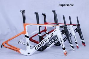 Costelo vélo de route supersonique en fibre de carbone cadre de fourche pince de selle tige de selle en carbone Route disque de vélo par axe Bici velo