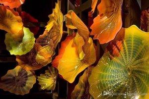 Geblasenem Glas-Platte für Hotel-Dekoration Blumen-Form Murano Kunst-Glas-Wandleuchte Multi Color Murano Glass Hotel Wandleuchten