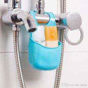 Nouveau mode de silicone pliable Hanging salle de bains cuisine Gadget boîte de rangement en silicone sac de rangement boîte de rangement à chaud organisateur Livraison gratuite TY1075