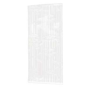 White Frosted Window Film Frost Etched Glass Sticky Back 45cm x 2m Bamboo rhyme