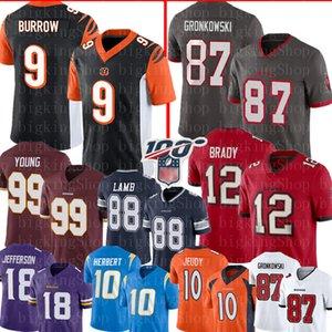 TampaBaia12 Tom Brady 87 Rob Gronkowski BuccaneersJersey Joe Burrow BengalsChase Giovane 88 CeeDee Agnello Justin Jefferson