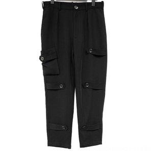 2744 2019 New Mens clothing Men's Pants Men's Clothing Hair Stylist fashion model street slim plus size casual pant costumes