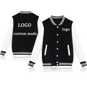 Por encargo adolescente béisbol chaqueta de bombardero chaqueta Niño Niña Unisex DIY Diseño Uniforme sudadera Personalizar Streetwear