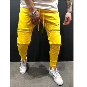 Yeni Bahar Spor Erkek Pantolon Elastik Bel Sweatpants Gevşek Erkek pantolon joggers Günlük Pantolon Men Pockets