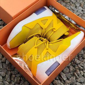 Fear Of God Mens Zip designer shoes sport shoes Green Orange Pulse Yellow Light Bone Black Snow Boots sneakers