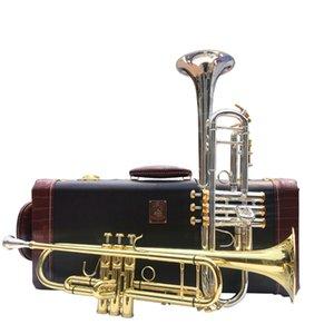 طلاء الفضة باخ LT197GS-77 البوق ب ب الآلات الموسيقية المهنية البوق أفضل النحاس جودة مع حالة هدية