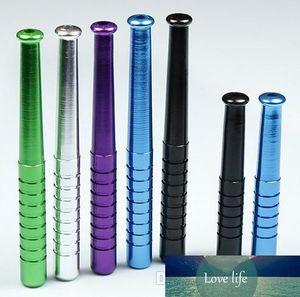 baseball bat shape metal aluminum smoking pipe Hand Pipe mouth tips cleaners hookah rolling machine grinder
