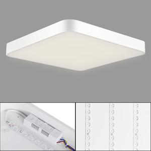 Por luz de techo 36W ultra delgado cuadrado LED Baño Cocina Sala Día Luz / caliente regulable Blanca