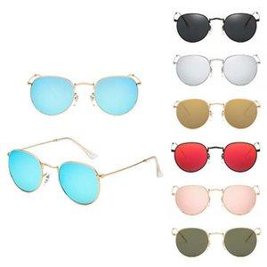 High Quality New Fashion Luxury Men Women Mirror Lens Steampunk Sunglasses Glasses Vintage Retro Driver Goggles For Hot Sale