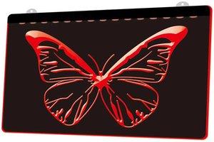 LD0200 0 Papillon RVB multiple Couleur télécommande LED Gravure 3D Neon Light Sign Boutique Bar Pub club