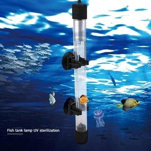 Ультрафиолетовое Водоросли Удаление Дезинфекция Свет пробки Fish Tank Uv Lamp Погружной Uv стерилизатор лампы аквариума светодиодное освещение (ЕС Plug