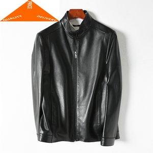 Men's Leather & Faux Jacket Genuine Luxury Coat Men Real Sheepskin Spring Outwear Casual Autumn Clothes Erkek Deri Ceket LWL9489