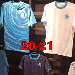 BALOTELLI Olympique de Marseille camisa de futebol 2019 2020 Marseille Crianças Uniformes PAYET OM Adulto afastado Azul Terceiro L GUSTAVO THAUVIN Camisas