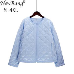 NewBang 브랜드 플러스 사이즈 경량 코튼 코트 여성 겨울 워너 코 칼라 코트 지퍼 Feamale 슬림 자켓