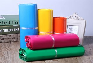 50pcs Hot Poly Mailer Mailing Bags Color Express Packaging Envelope Bag Mailer Plastic Garments Boxes Shipping Bags Lbkeq
