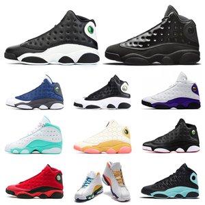 Jumpman 13 hommes femmes chaussures de basket-ball 13s sales Bred Rivals Playground chapeau et robe de chat noir entraîneur des hommes de sport de femmes de 5,5 à 13