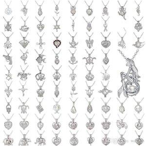 Природные Pearl Pearl Клетка ожерелье Любовь Желания С Oyster Pearl Mix Дизайн Мода Hollow Locket ключицы Chain Диффузор ожерелье