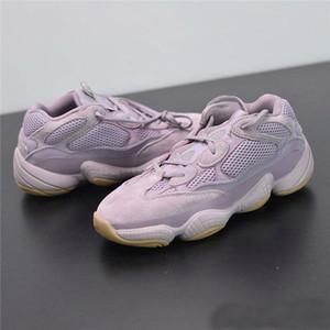 2019 zapatos corrientes de la nueva versión de Kanye West 500 Visión suave para mujer para hombre Kanye West púrpura 500 Diseñador Wave Runner