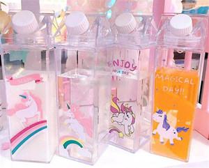 Flamingo Unicorn Coffee Groot Garrafa de Leite bonito da água da menina Bottlle Meu Beber Container Free For Kid Escola