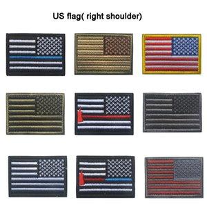 بقع المطرزة usa flag شارة الجيش التكتيكية العسكرية بقع النسيج الولايات المتحدة العلم الحق الكتف القماش شارة الولايات المتحدة العلم