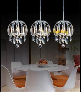 Nouveau lustre éclairage lampe de suspension Cuisine cristal Suspension Éclairage Contemporain îlot en cristal lumières led éclairage intérieur