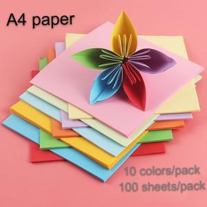 cartone a mano costo di trasporto libero casa di carta multicolore carta da ufficio scuola Fai da te prodotti di carta A4 a colori Origami