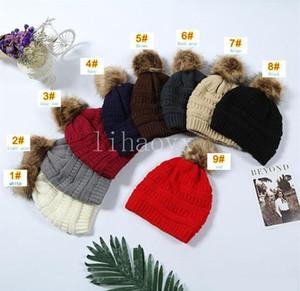 Sıcak yeni Çocuk Yetişkin Kalın Kış Şapka İçin Kadınlar Yumuşak Stretch Kablo Örme Pom Poms Beanies Şapkalar Kadın Skullies kasketleri Kız Kayak Cap Isınma
