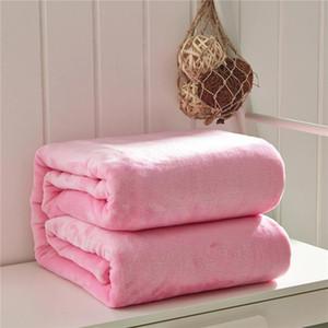 Super suave Microplush BedFuzzy polar sólido manta del color puro Mantas Colchas tirar para Bed regalo del bebé