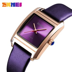 SKMEI Damen Uhren Top-Marke Luxus Echtes Leder Damenuhr Quarz Mode Armbanduhr Reloj Mujer Montre Femme 1432