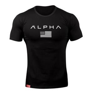 Muskel-Bro-Sommerzeit-runder Kragen-Eignung, die zufällige Hemden ausbildet Europäisches und amerikanisches Wind-T-Stück