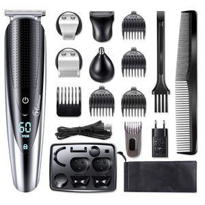 Multifunzione facciale del rasoio elettrico per gli uomini rasoio corpo asciutto bagnato rasatura macchina Barba Rasoio elettrico ricaricabile capelli rasoio