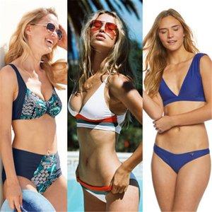 Sexy Bikini 2019 Badebekleidung Frauen neue Push Print Biquini Set Weibliche Badeanzug Badende Strand Schwimmen Badeanzug Drop