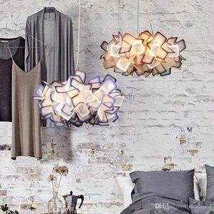 İskandinav yaratıcı kristal avize Kolye Işıkları sözleşmeli lambalar modern romantik sanat restoran droplight üç renk ayarlanabilir led ışık