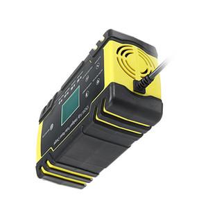Enusic12 / 24V 8A / 4A 터치 스크린 펄스 수리 LCD 배터리 충전기를 들어 자동차 오토바이 산성 배터리 AGM 젤 습식 리드 - 미국 플러그