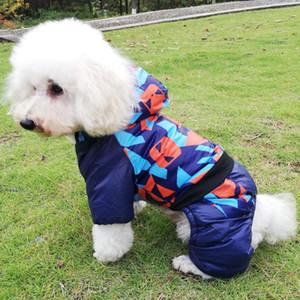 Ropa para mascotas perro otoño algodón capa del invierno cálido y confortable, además de terciopelo con capucha ropa para perros al por mayor del suéter del perro ropa de perros