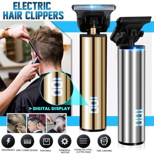 SPZ LED Digital Display Shaver Hair Clipper Carving Cool Style Adult Razors Professional Trimmers Corner Razor USB Rechargeable