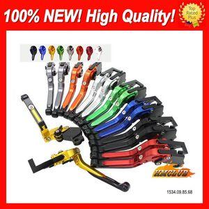 10colors Leviers CNC pour HONDA CBR1100XX Blackbird 96 97 98 99 00 01 02 03 04 05 06 07 1100XX CL686 Pliant Extensible Poignée d'embrayage de frein