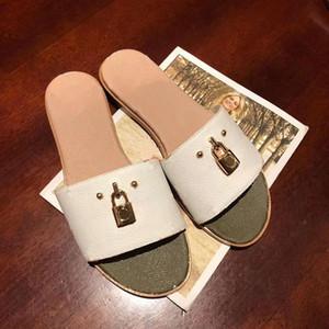 Designer Hausschuhe Frauen Luxus Rutschen neuesten Luxus-Designer-Marke Sandalen Sommer Lock It Flat Mule Größe 35-42 Modell HY02