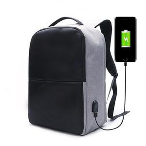 Ekphero Men Anti Theft Backpack Bolsa de viaje impermeable con puerto de carga USB COD